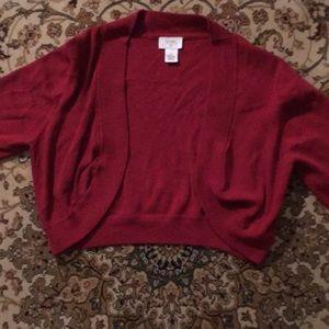LOFT sweater shrug.  Holiday time!